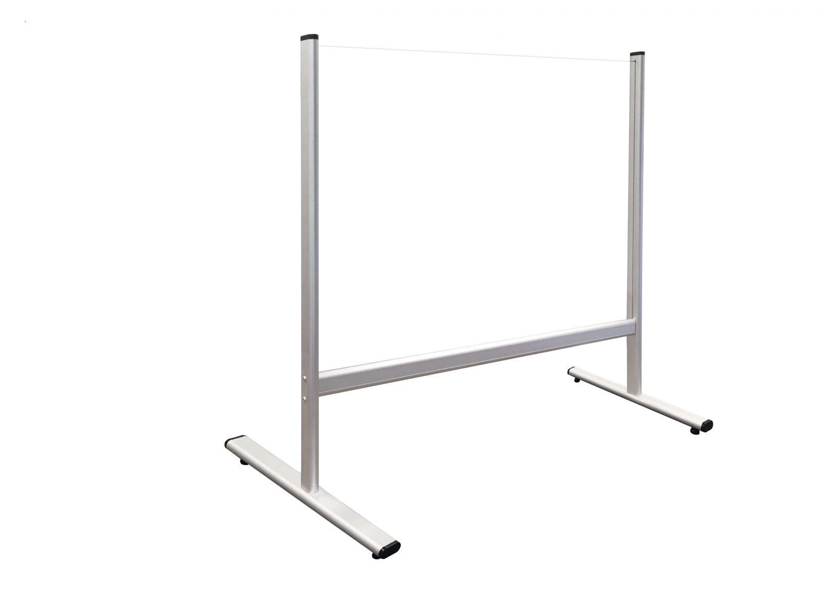 Bezpečnostní dělící plexi stěna na stůl 80 x 65 cm 2x3
