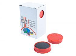 Magnety ARTA průměr 30mm, červené (10ks v balení)
