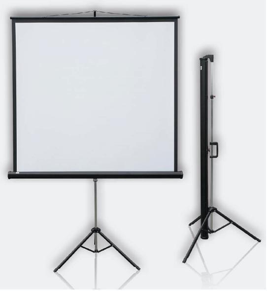 Mobilní projekční plátno Profi Tripod mobil 120 x 120 cm 2x3