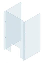 Ochranná plexi zástěna na stůl s bočnicemi 80 x 70 cm