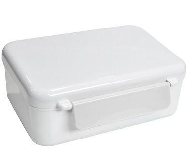 Svačinová krabička s dvojitým zámkem - barva spodní krabičky - bílá