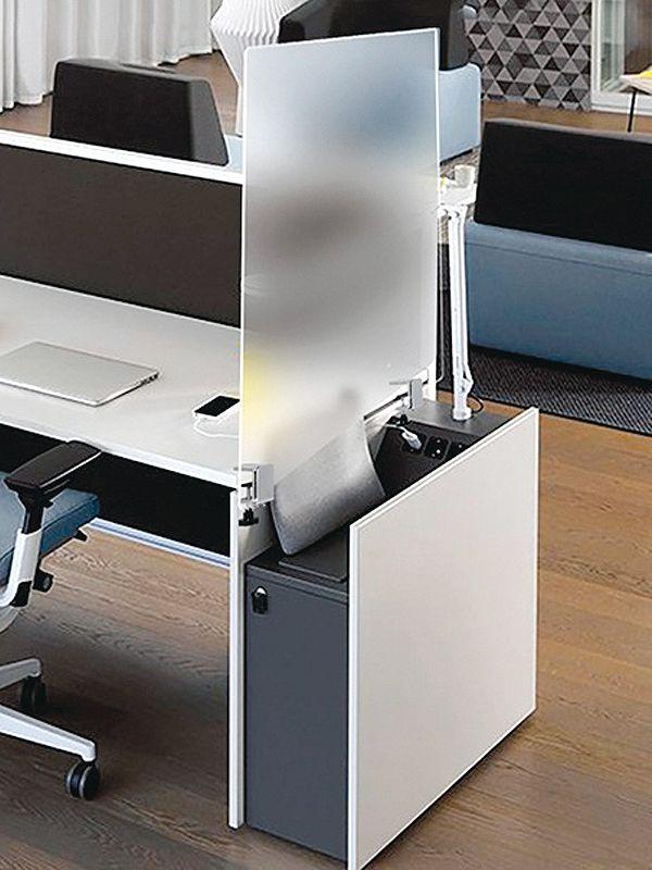 Dělící plexi stěny s úchyty pro oddělení pracovních míst 60 x 60 cm 2x3