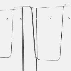 Prezentační odkladač na zeď - velikost A4 - 210 x 297 mm 2x3
