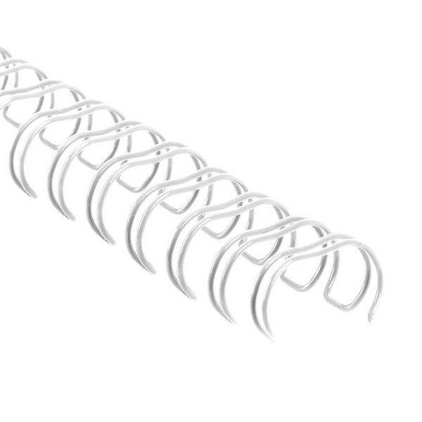 """Drátěné hřbety 3/8"""" / 3:1 / 6 mm - bílé COPIERLAND"""