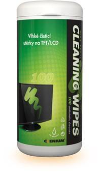 Čistící utěrky na LCD - 100ks CLENIUM
