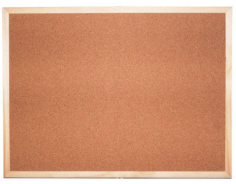 Korková tabule jednostranná 90 x 60 cm (balení po 6 ks) CLASSIC