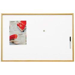 Magnetická tabule lakovaný povrch, dřevěný rám 90 x 60