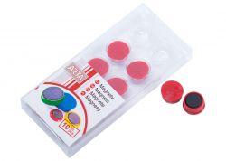 Magnety ARTA průměr 16mm, červené (10ks v balení)