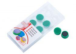 Magnety ARTA průměr 16mm, zelené (10ks v balení)