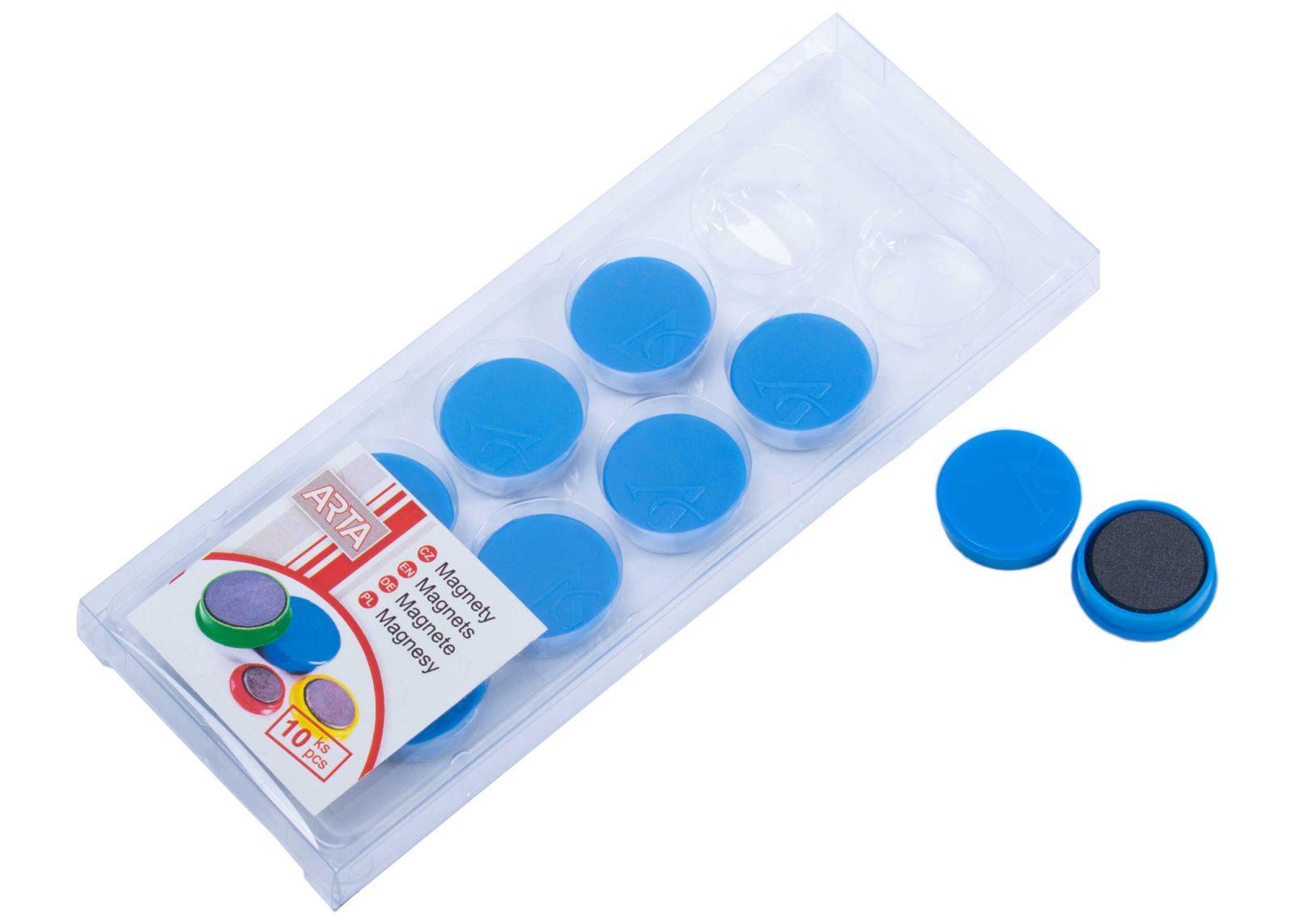 Magnety ARTA průměr 25mm, modré (10ks v balení)