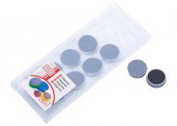 Magnety ARTA průměr 25mm, šedé (10ks v balení)