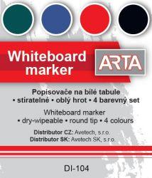 Sada popisovačů ARTA na bílé tabule - 4 ks