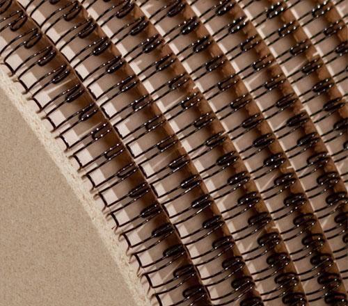 """Drátěná vazba prům. 6,4 mm 1/4"""" počet závěsů 94.000 barva - černá dělení 3:1 RENZ"""