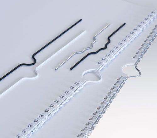 Háčky 150 mm bílé do kalendářové vazby RENZ