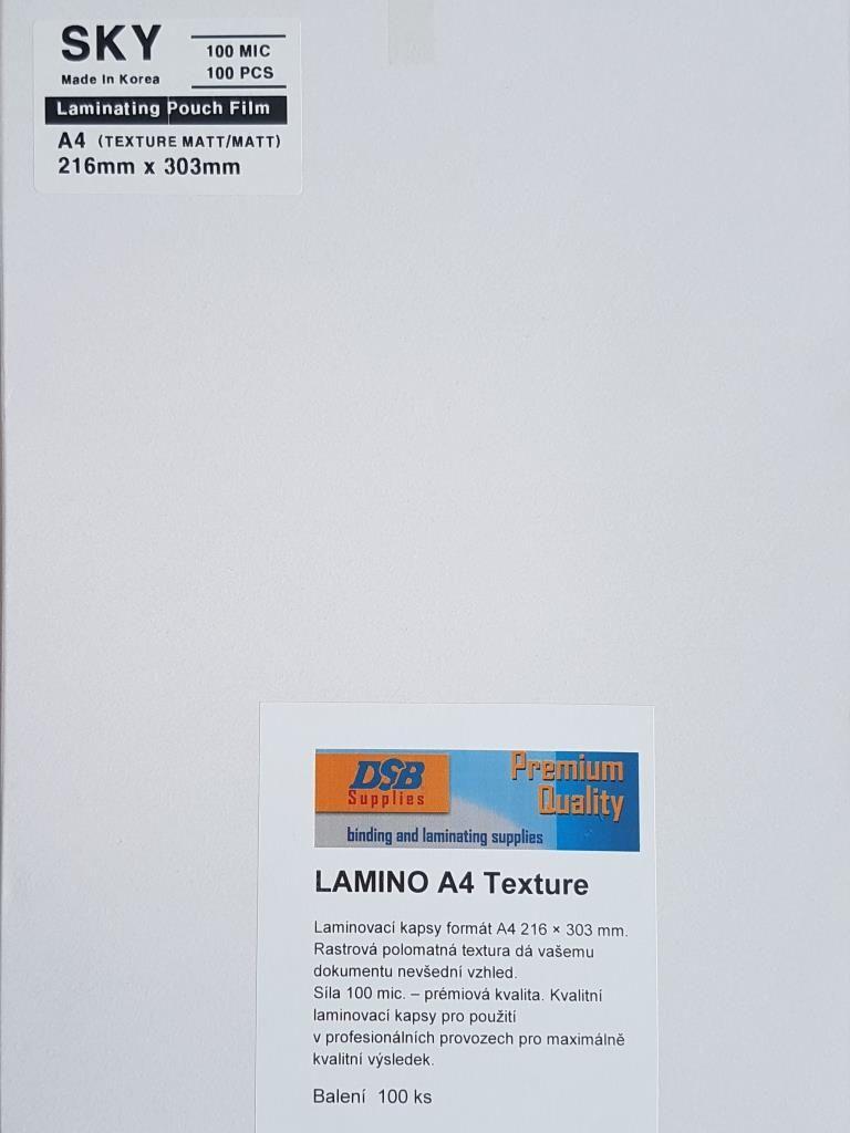 Laminovací fólie A4 100 mic. Matné s texturou DSB-SKY