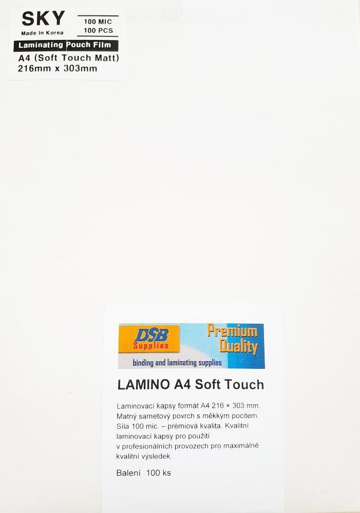 Laminovací fólie A4-100 mic. Matné Soft Touche DSB-SKY