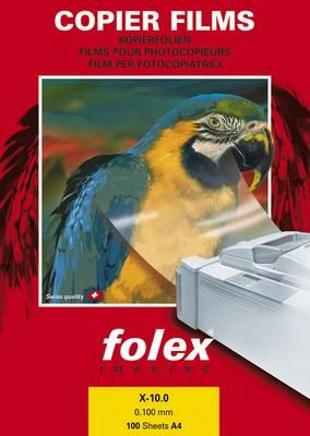 X-10.0 čirá fólie A4,č/b kopír FOLEX
