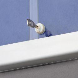 Horizontální vitrína 141x70 cm (12xA4) modrý filc 2x3