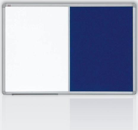 kombinovaná tabule 120x90 filc modrý/magnet., rám ALU23 2x3