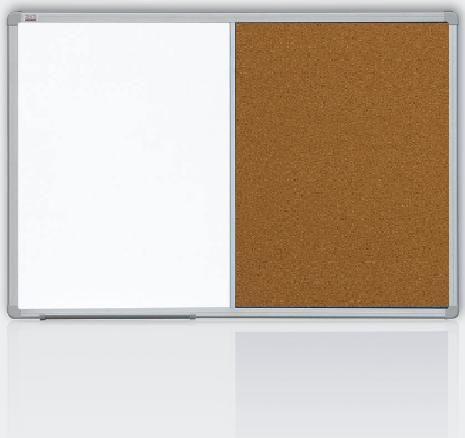 Kombinovaná tabule 60x90 korek/magnet., rám ALU23 2x3