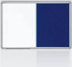 Kombinovaná tabule 90x120 filc šedý/magnet., rám ALU23