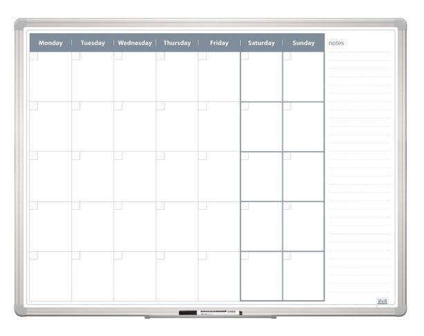 Měsíční plánovací tabule 120x90, ALU23 2x3