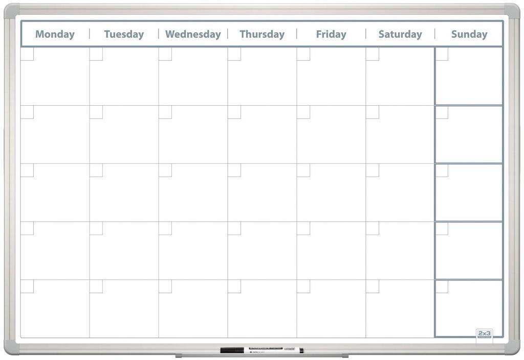 Měsíční plánovací tabule 60x90 ENG New design 2x3