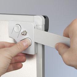 Mobilní flipchart s rameny OFFICE PRO - Grey line design 2x3