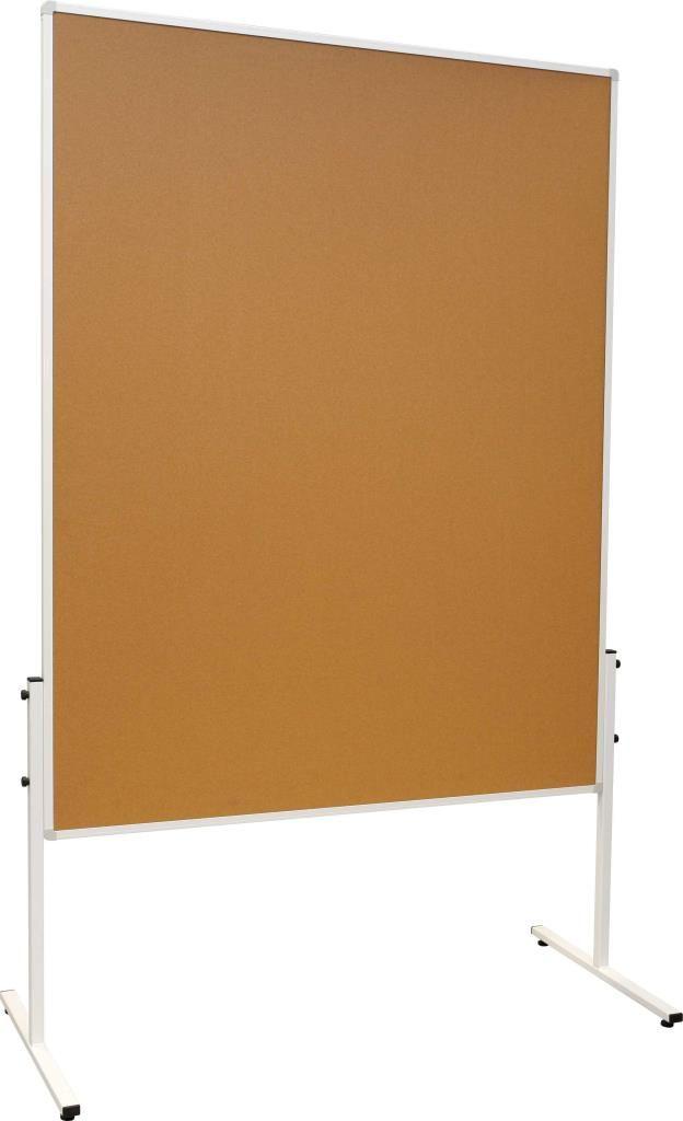 Moderační oboustranná tabule korková 120x150cm na kolečkách 2x3