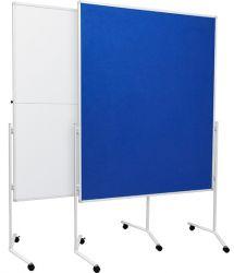 Moderační textilní tabule modrá 120x150 cm