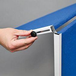 Moderační textilní tabule šedá 120x150 cm - skládací 2x3