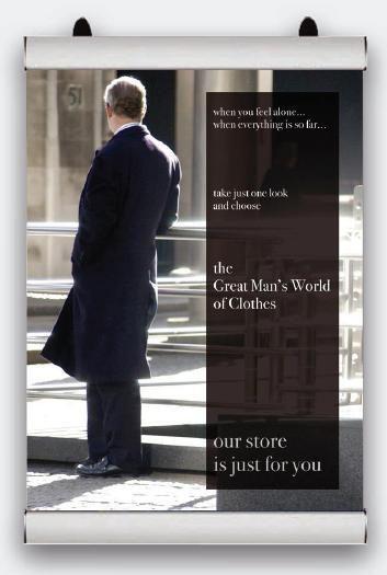 Plakátová lišta Poster Snap - 841 mm 2x3