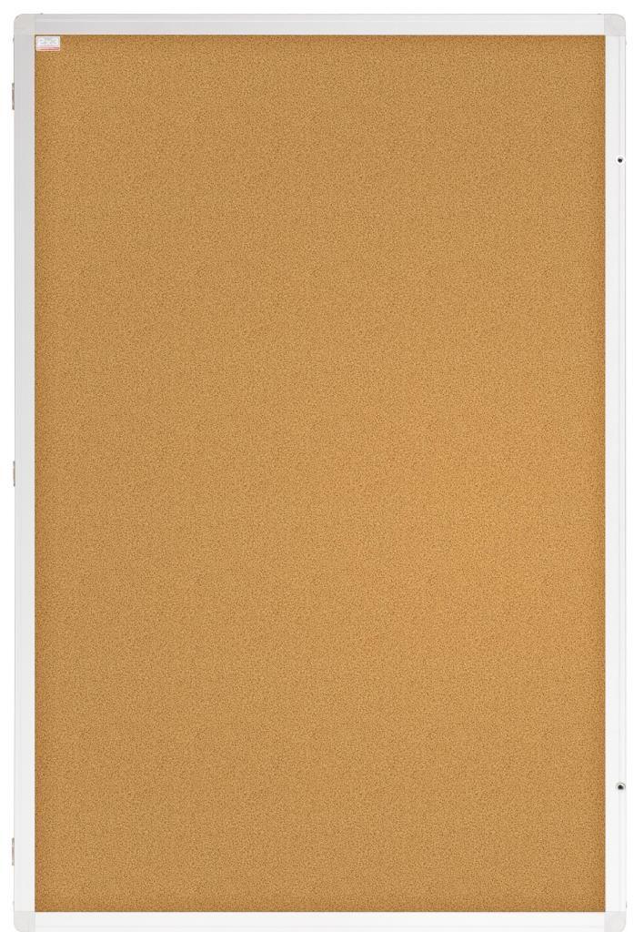 Vertikální vitrína Eco - korková výplň - 60 x 90 cm 2x3