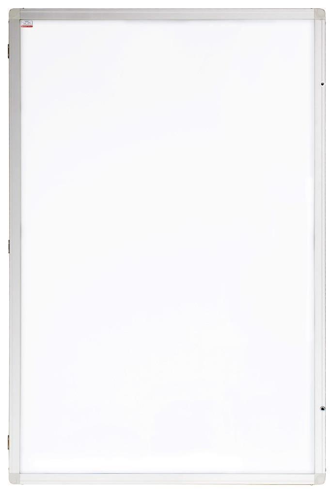 Vertikální vitrína Eco - lakovaná výplň - 90 x 120 cm 2x3