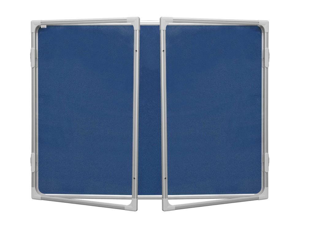 Vitrina 120x180cm,textilní vnitřek, mod2 2x3