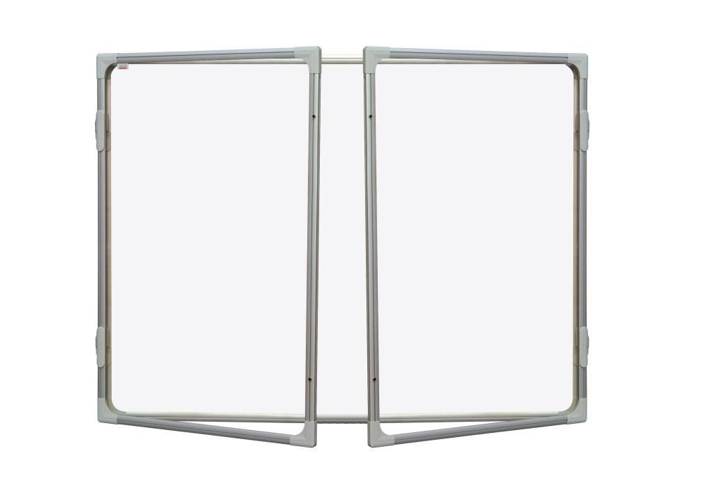 Vitrína interiérová s vertikálním otevíráním 120x180 cm, magnetický povrch, model 2 2x3