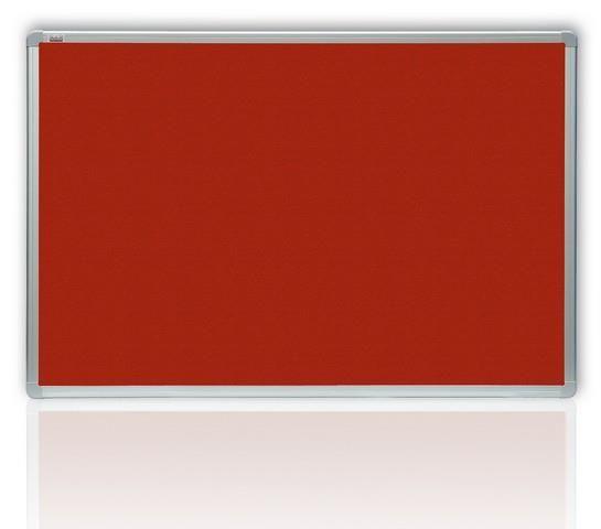 Filcová červená tabule v hliníkovém rámu 120x90 cm 2x3