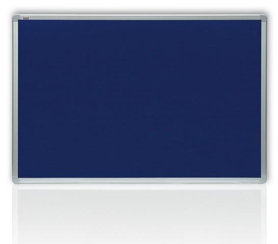 Filcová modrá tabule v hliníkovém rámu 60 x 45 cm 2x3