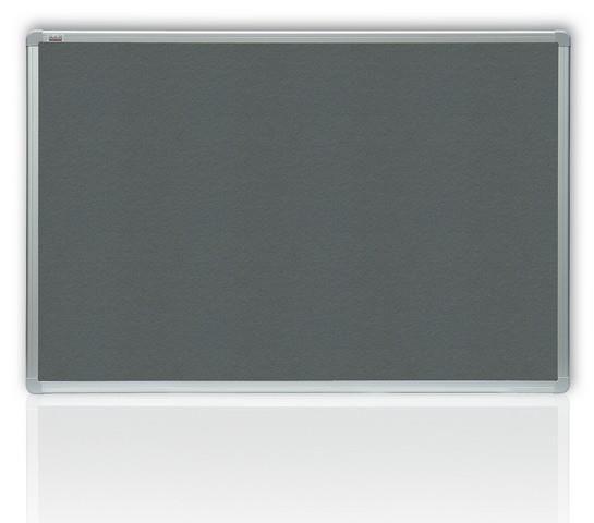 Filcová šedá tabule v hliníkovém rámu 120x90 cm 2x3