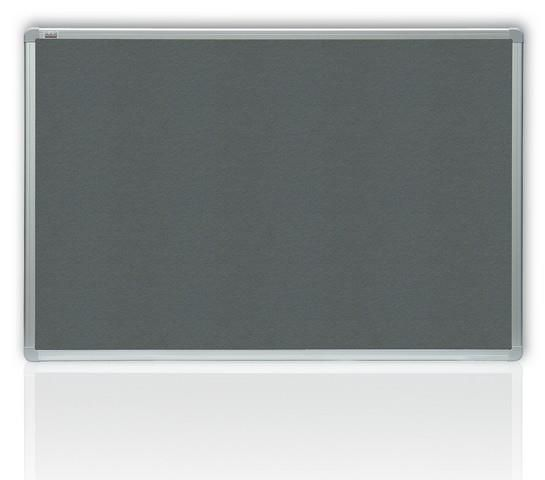 Filcová šedá tabule v hliníkovém rámu 180x90 cm 2x3
