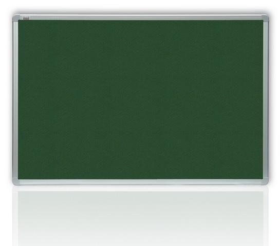 Filcová zelená tabule v hliníkovém rámu 120x90 cm 2x3