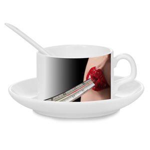Kávový set - hrneček, talířek a lžička
