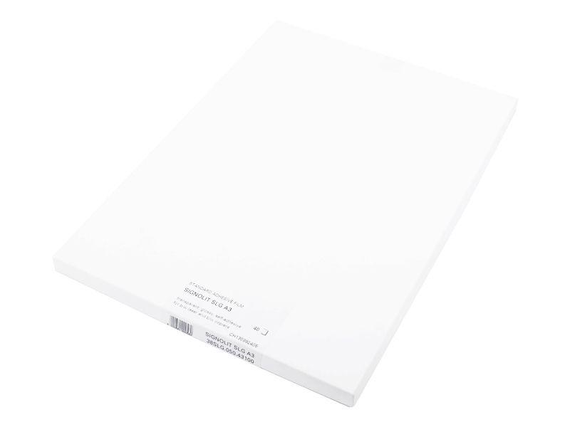 Signolit SLG A3 - Čirá samolepící folie pro barevné kopírky REGULUS