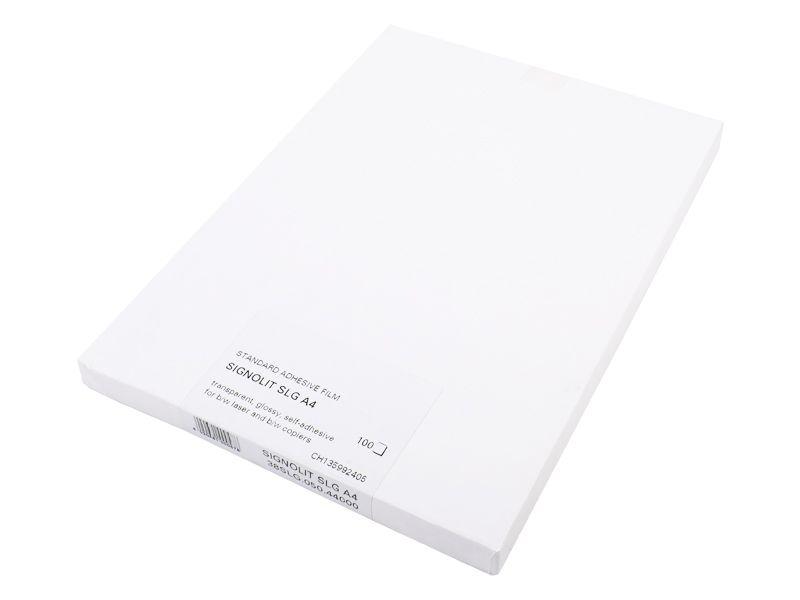 Signolit SLG A4 - Čirá samolepící folie pro barevné kopírky REGULUS