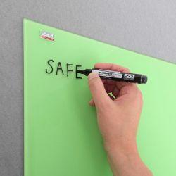Skleněná magnetická tabule 150x100 cm – bílá