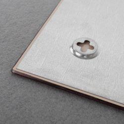 Skleněná magnetická tabule 45x45 cm - bílá 2x3