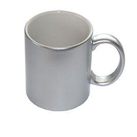 Hrnek stříbrný metalický