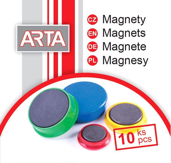 Magnety ARTA průměr 30mm, šedé (10ks v balení)