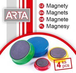 Magnety ARTA průměr 40mm, bílé (4ks v balení)