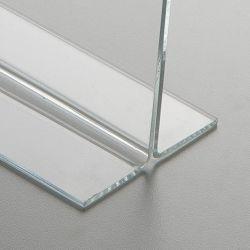 Plexi stojánek na stůl oboustranný typu T - velikost A5 na výšku 2x3